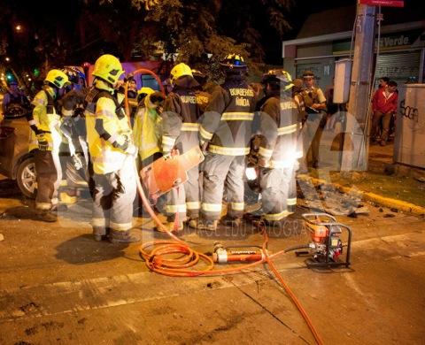 Ardua labor de segundinos en rescate de madrugada