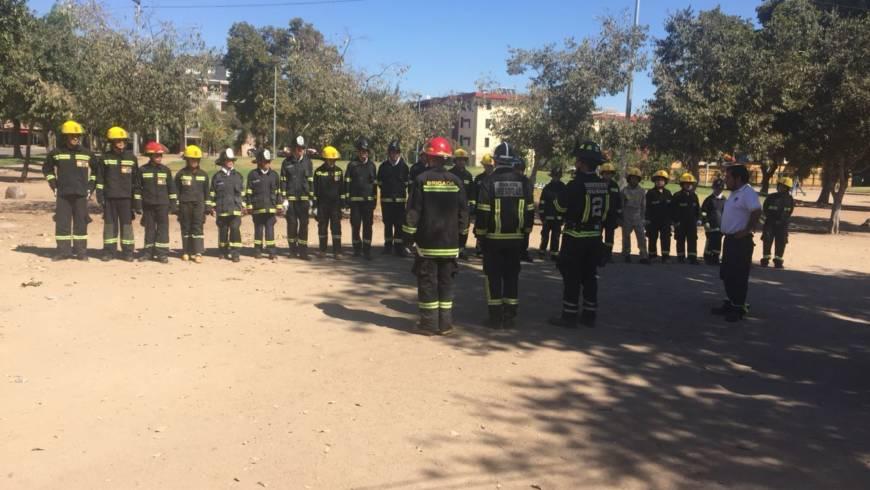 Actividad en conjunto Brigadas Juveniles Segunda Compañía Bomberos Ñuñoa y Quinta Compañía Bomberos la Granja