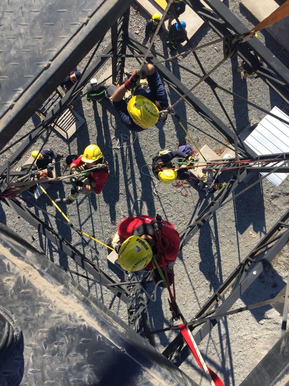 Curso Respuesta a Incidentes de Rescate Técnico con cuerdas en Rancagua